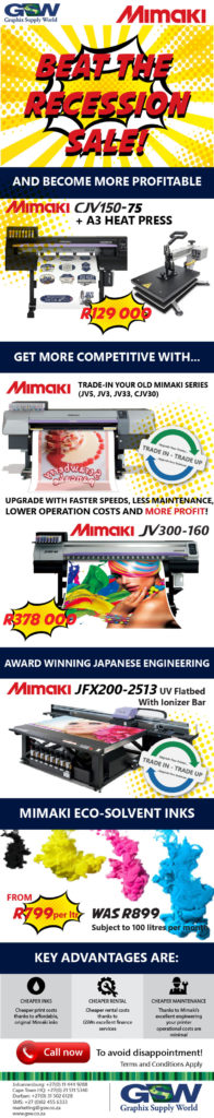 Beat the Recession with Mimaki