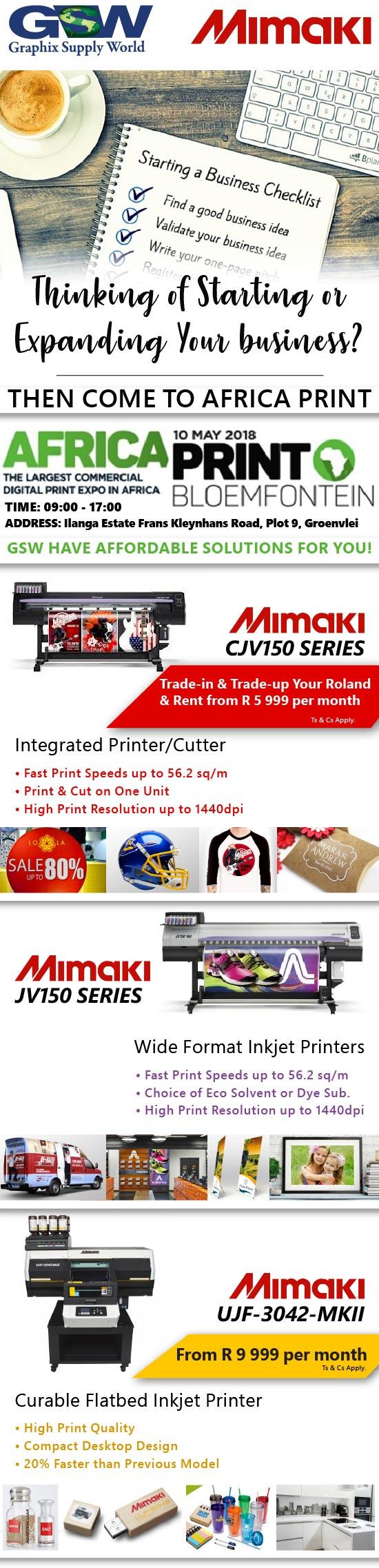 Events & Shows - GSW - Graphix Supply World - Mimaki Printers